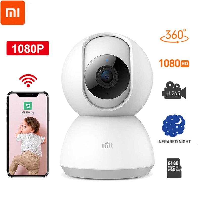Original xiao mi jia 360 graus noite versão ip câmera inteligente wi fi monitor do bebê monitor de voz webcam câmera vídeo para mi casa