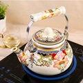 Эмалированный чайник 2 5 л  домашний газовый чайник  индукционная плита  эмалированный чайник со свистком  чайник для воды