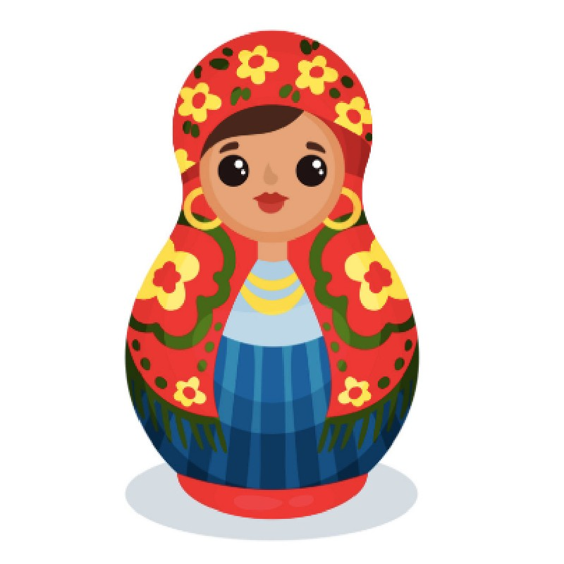 Matryoshka Doll National Team 9 Piece Sdprod M003