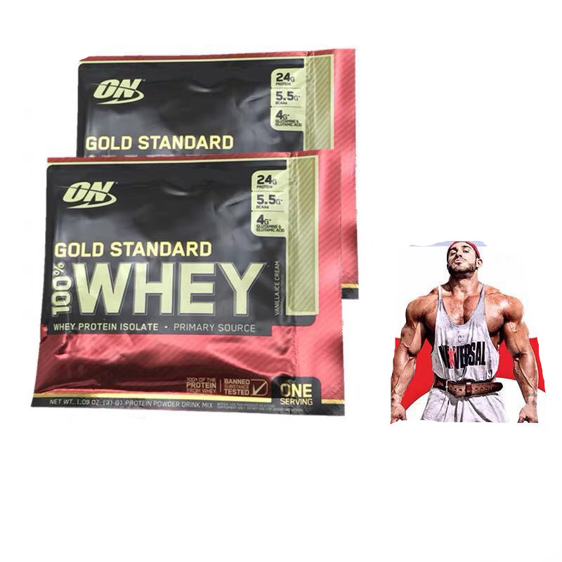 Us genuine warranty ON Optemon Whey Protein Powder 1bag 30g Bodybuilding Weight Gainer Powder strengthen the muscles image