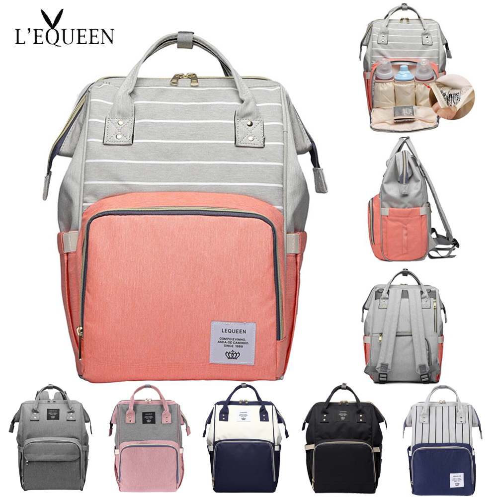 LEQUEEN 38 Baby Care Mom Convenient Bag Diaper Bags Large Capacity Mummy Maternity Baby Bag Multifunctional Nursing Bag Backpack
