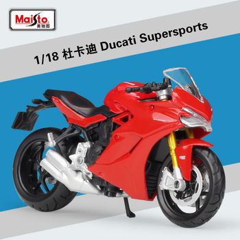 Maisto NEW 1:18 Ducati Supersports Alloy Diecast Motorcycle Model Workable Shork-Absorber Toy For Children Gifts Toy Collection 1 18 diecast model for nissan geniss livina red mpv alloy toy car miniature collection gifts