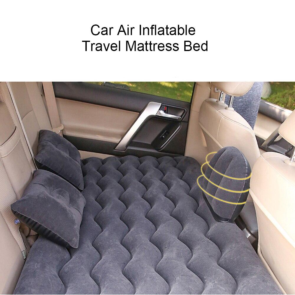 Воздушный надувной матрас с волнистым рисунком для взрослых и детей, универсальный автомобильный дорожный диван-подушка для заднего сиден...