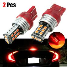 цена на 2pcs 15-LED LED Brake Lights Red Strobe/Flashing Blinking Lamp For Brake Car Tail Light