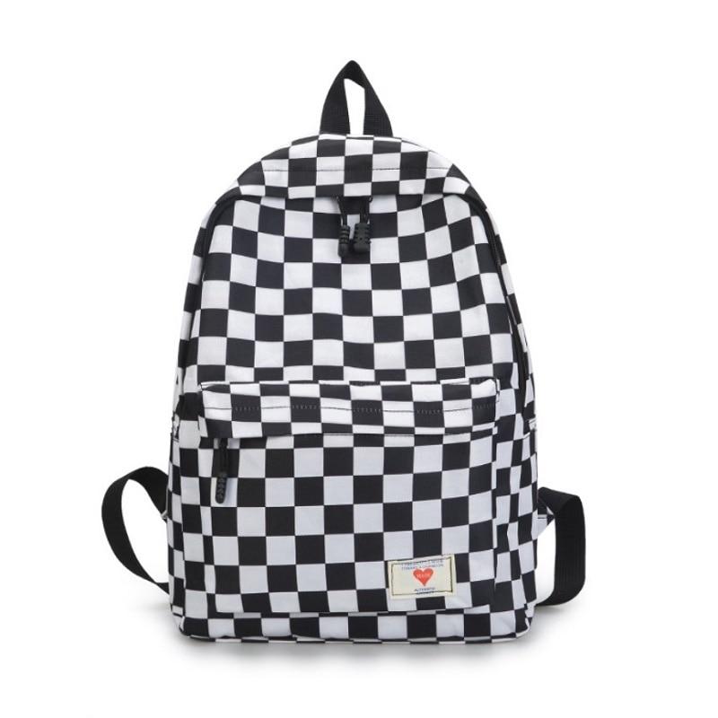 New Trend Sale Backpack Women Men Unisex Lattice Checkerboard Teenager Preppy School Bag Couples Shoulder Back Pack Travel Bag