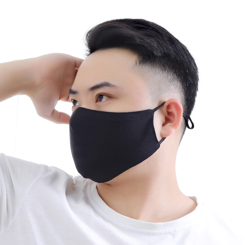 1PC Sponge Mouth Mask Black Cotton Cloth Anti-dust Mask Outdoor Sport Breathable Face Mouth Masks Unisex Face Mask