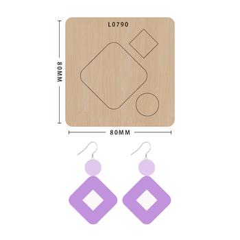 SMVAUON notatnik Die Cut Square kolczyk handmade nowe matryce do 2020 drewniany szablon do wycinania formy do wykrawania drewna tanie i dobre opinie Plac Leather Tools