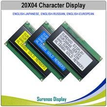 Английский/японский/русский/Европейский 204 20X4 2004 символов ЖК-дисплей модуль Экран дисплея LCM с светодиодный Подсветка