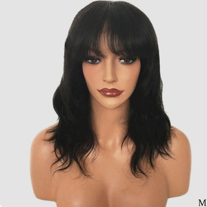 FAVE Mixed Ash Brown Blonde Straight Bob Shoulder Length Synthetic Wig Middle Part Cosplay Party Heat Resistant Fiber For Women(China)