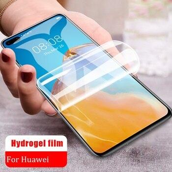 Перейти на Алиэкспресс и купить Не стеклянная мягкая Гидрогелевая пленка для Huawei Y7P P40 Lite Nova 7 7i se 5g Honor Play 9C 9a 4T 30S 30 Защитная пленка для экрана