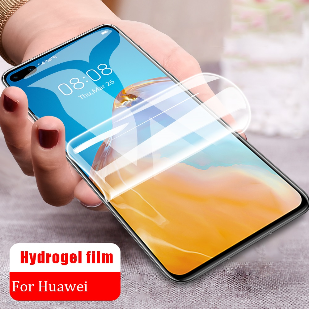 Full Cover Hydrogel Film For Huawei P10 P20 Lite P30 Pro Mate 20 Lite Mate 30 Pro Screen Protector Not Glass