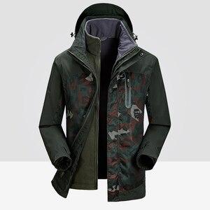 Image 2 - แจ็คเก็ตผู้ชายฤดูหนาวกันน้ำ Streetwear ทหารหลวมเสื้อคลุมเสื้อ 2019 ขนาดใหญ่ยี่ห้อขนแกะให้อบอุ่นความร้อนคลุมด้วยผ้า Windproof ที่มีคุณภาพสูงรัสเซียหิมะเสื้อกันลมสีฟ้าเสื้อกันลม Parkas ท่อ