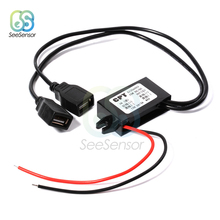 цена на DC/DC 12V to 5V 3A 15W Car Power Buck Converter Regulator Dual USB Step Down Voltage Power Supply Output Adapter