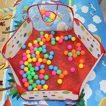 Новая игрушечная палатка в горошек с рисунком из мультфильма, игровые мячи, портативный складной бассейн, детская спортивная развивающая игрушка с корзиной