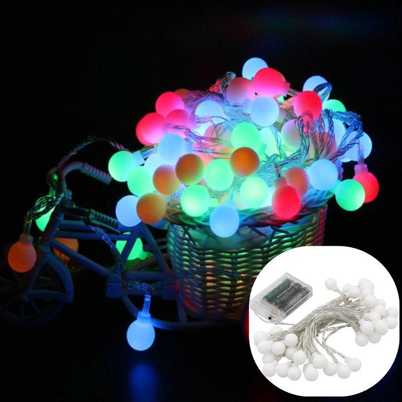 1M2MLED Light String RGB Garland Light String Fairy Ball Wedding Holiday Decoration Light Festival Outdoor Lighting Night Light