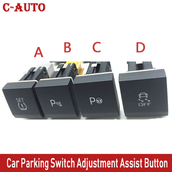 Car ASR SET Automatic Auxiliary Parking Radar Ops Rada Anti skid ESP Contro Switch Adjustment Assist Button For VW