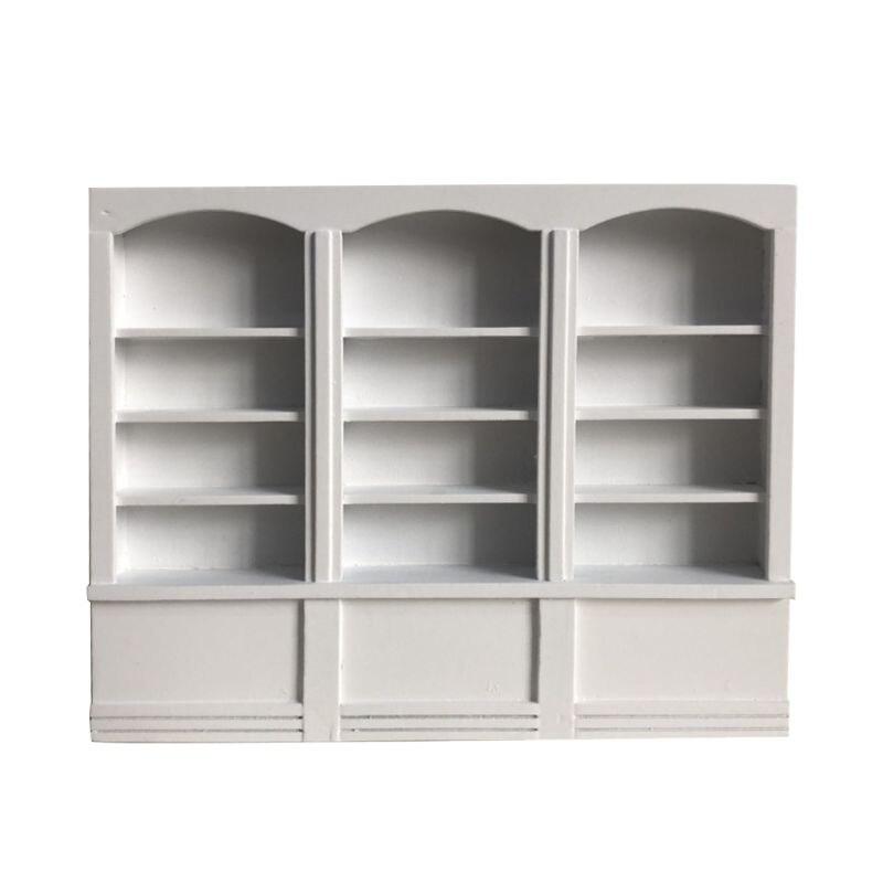 1/12 Dollhouse Miniature Furniture Multifunction Wooden  Bookcase Bookshelf Cabinet Shelf Study Room Decoration E65D