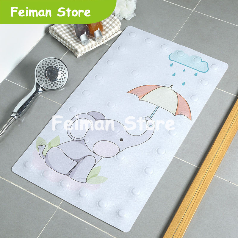 PVC Non-slip Bathroom Mat Baby Safety Shower Bath Bead Massage Pad Suction Bath Shower Bathtub Carpet Bath Accessories