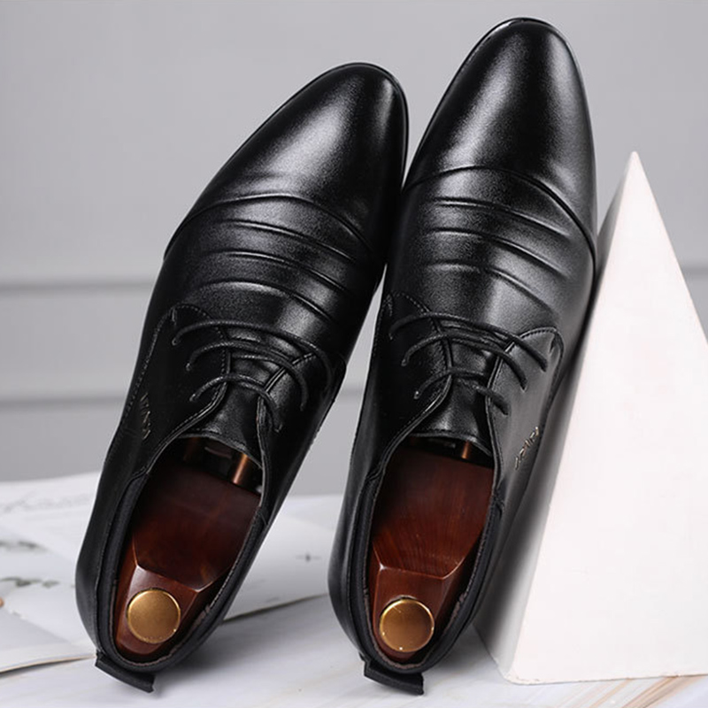 REETENE Oxford Shoes For Men Luxury Brand Formal Shoes Men Italian Fashion Mens Office Shoes Leather Men'S Leather Wedding Shoes