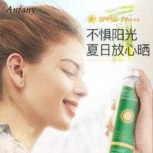 Crystal sunscreen spray SPF50 moisturizing refreshing non-greasy anti-ultraviolet isolation sunscreen