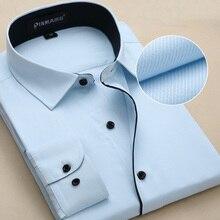 Высокое качество, мужские рубашки с длинным рукавом, облегающие, твил, одноцветные, social, пэчворк, удобные, деловые, официальные, мужские топы