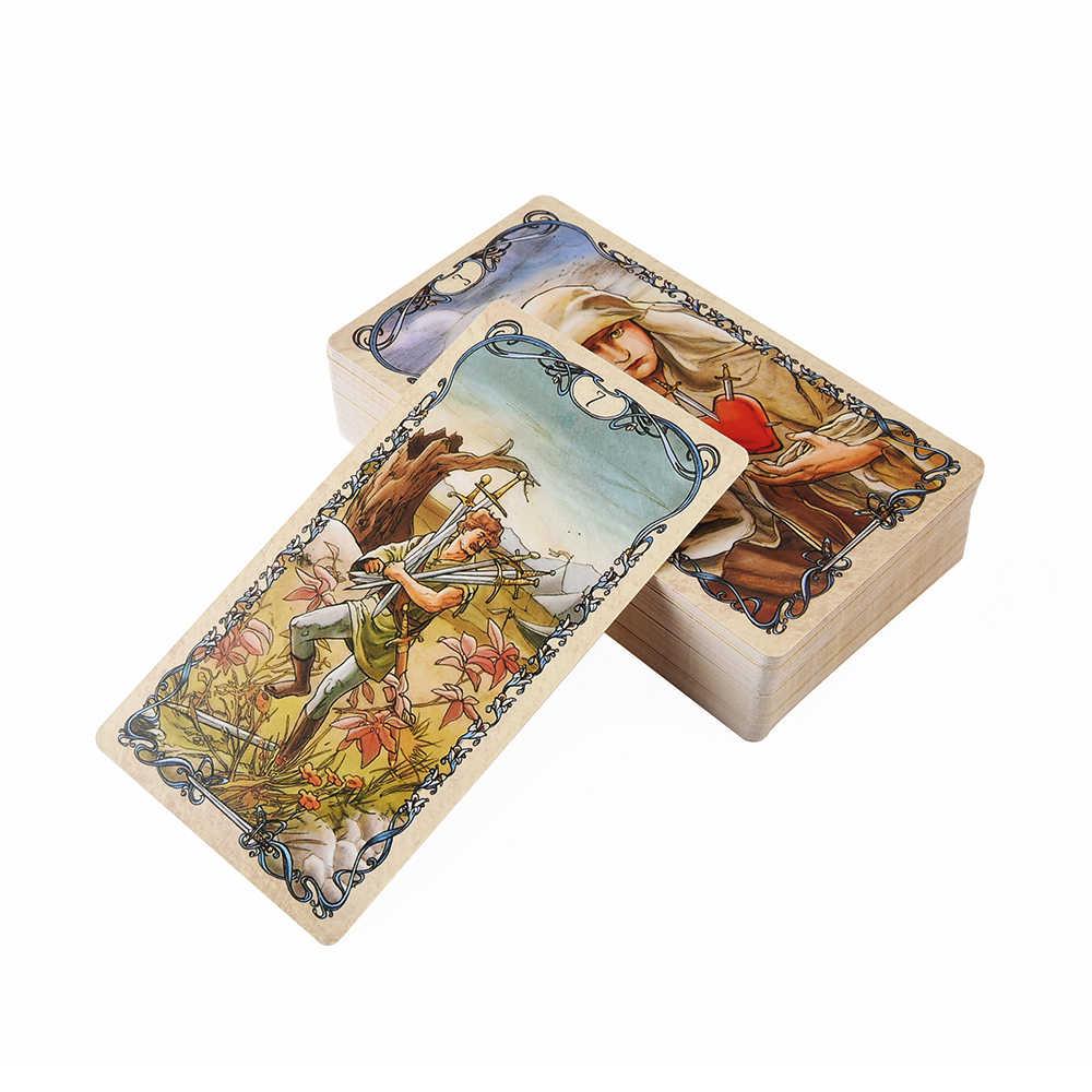 Karty tarota Mucha od Lo Scarabeo e-przewodnik Tarot gra zabawka Tarot wróżbiarstwo gra w karty pokładzie