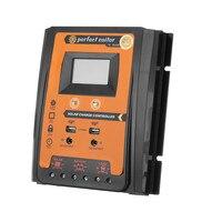 Controlador de carga y descarga de Panel Solar PVSC1124 50A/70A 12V24V doble salida USB pantalla LCD PWM|Contadores de electricidad solar| |  -