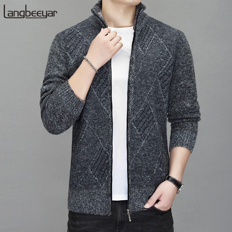 2020 New Thick Velvet Autumn Winter Fashion Windbreakers Jackets For Men Trend Street Wear Overcoat Casual Coat Mens Clothing