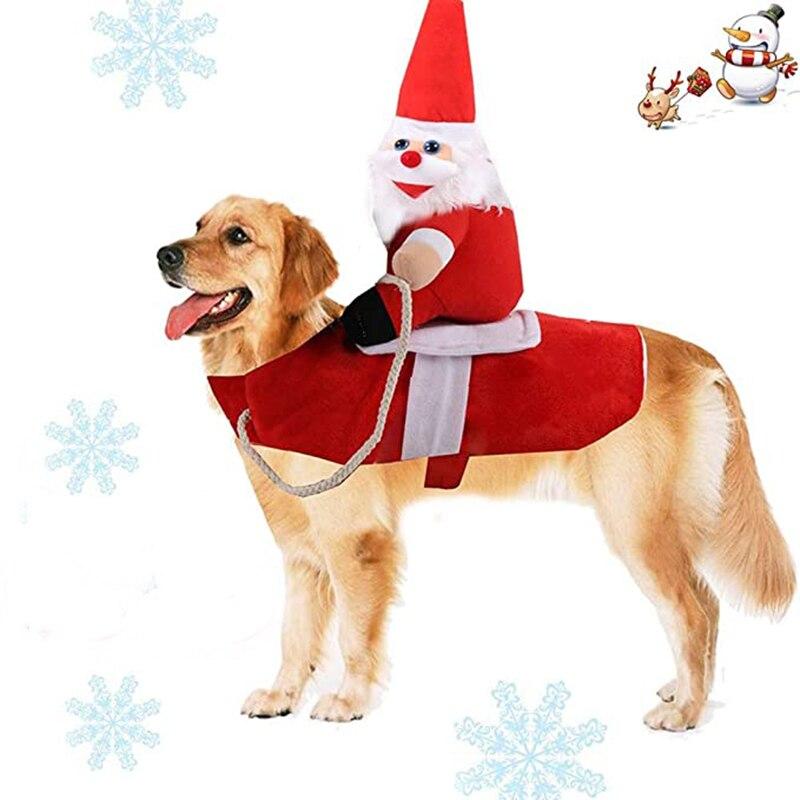 Рождественская одежда для домашних питомцев, кошек, костаусов, праздничная одежда, наряды для маленьких средних и больших собак, забавная одежда для домашних животных, одежда для верховой езды