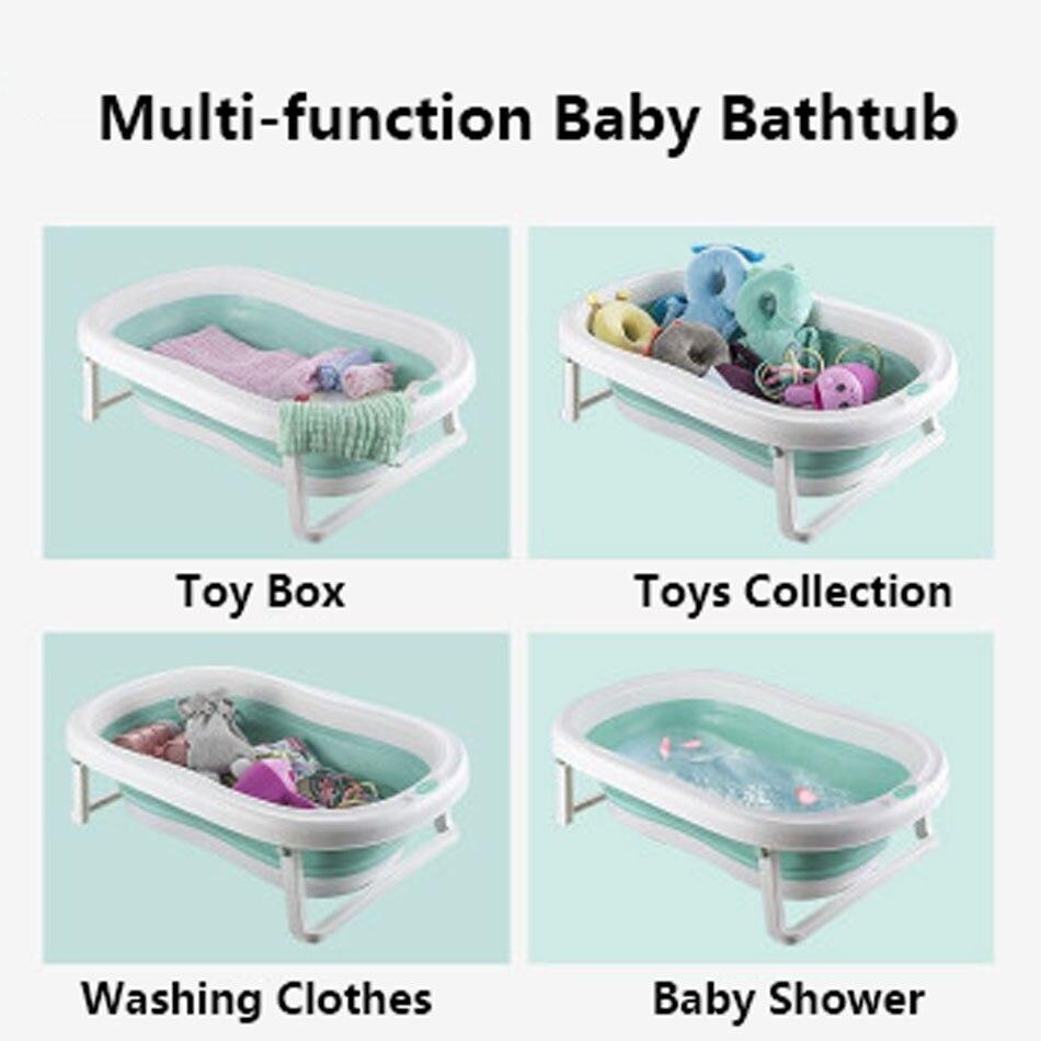 Easy Folding Baby Bath Tub With Non slip Cushion For Safe New Born Baby Bath Tub 4