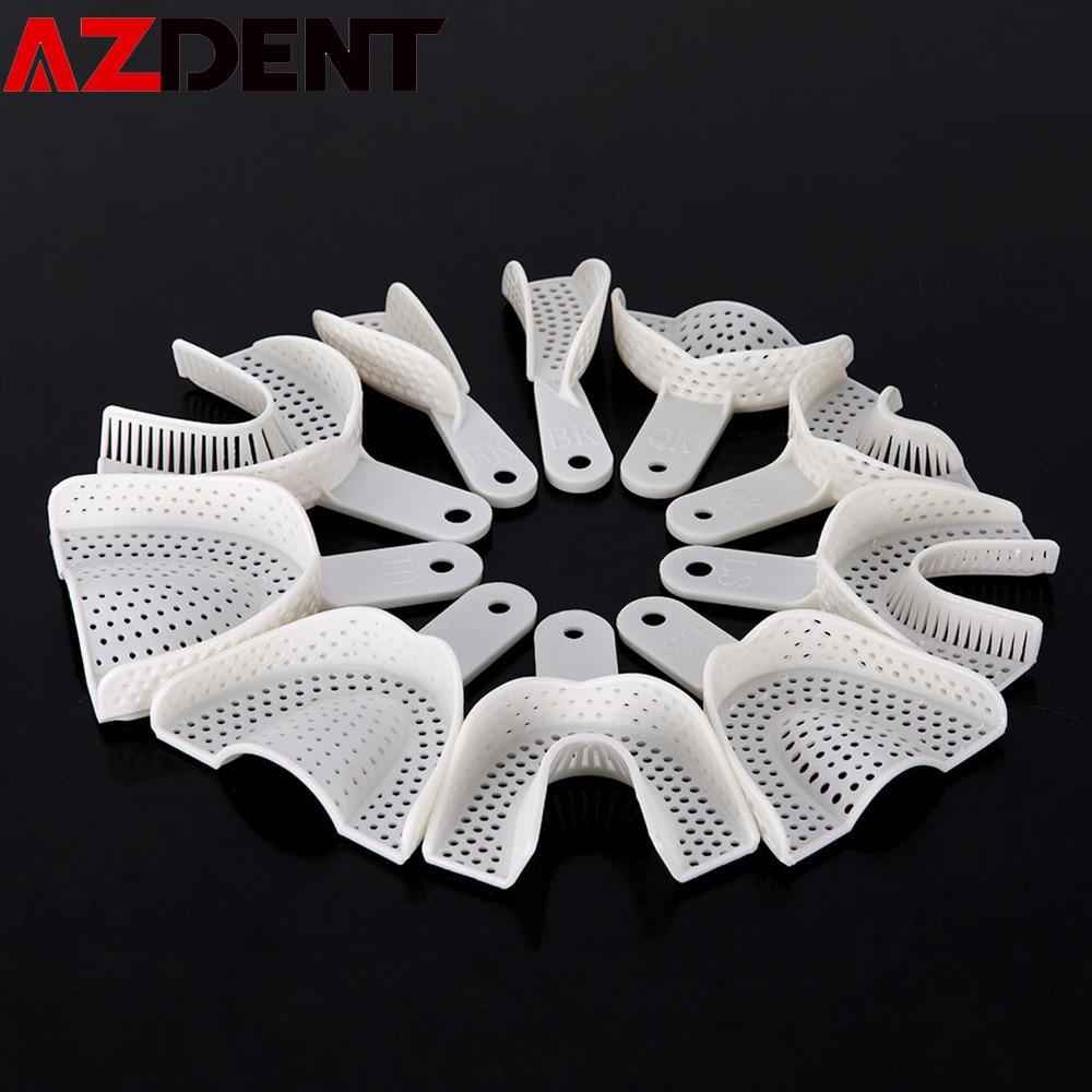 10 pièces/ensemble Impression dentaire plateaux en plastique sans plateau en maille outils de dentiste dentisterie matériel de laboratoire plateaux porte-dents