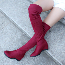 Woman Boots Platform Spring Summer Over Knee Wedges Shoes Fashion Round Toe Woman Shoes Lady Footwear Woman Rubber Boots