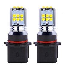 2 pcs P13W SH23W 11 PSX26W DRL Luzes Do Carro Super Brilhante de Alta Potência w LEVOU Brilho de 360 Graus Com Lente MAZDA CX-5 PEUGEOT 508 lâmpadas
