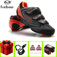 TIEBAO Road Radfahren Schuhe hinzufügen pedal set Self-Locking Ultraleicht Atmungsaktive Schuhe Professionelle Fahrrad Racing Athletisch Sneaker