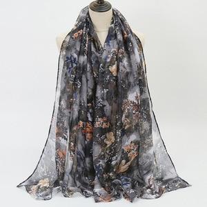 2021 spring/summer Muslim printed Bali hijab fashion thin section breathable and refreshing Malaysian hijab shawl scarf women