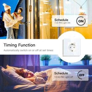 Image 4 - Ab WiFi akıllı duvar soketi 16A çıkış cam Panel almanya akıllı yaşam/Tuya uzaktan kumanda Amazon Echo ile çalışır alexa Google ev