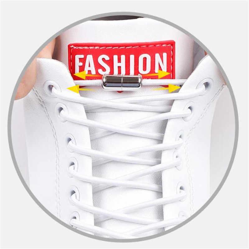 جديد كبسولة معدنية مشبك مرونة كسول أربطة الحذاء الأطفال الكبار الرجال والنساء الإبداعية أربطة أحذية Bootlaces إكسسوارات أحذية