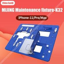 Mijing k32 mj iphone 11/pro/max 3-em-1 reparação fixação dispositivo elétrico placa-mãe laminação laminação estanho ic chip degumming