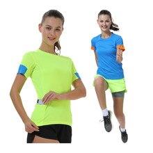 T-shirt de Sport à manches courtes pour femmes, à séchage rapide, pour Marathon, entraînement en plein air, Jogging, patchwork, Fitness