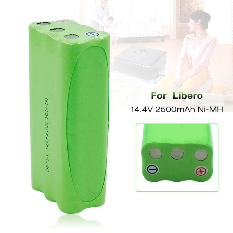 Новые Пылесосы аккумуляторная батарея 14,4 V 2500mAh NIMH Замена батареи для Libero M606 M600 GV450 V bot T270 T271 Перезаряжаемые батареи      АлиЭкспресс