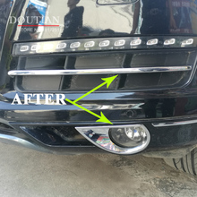 цена на Car Front Grille Trims For Audi Q7 2014 2015 Front Bumper Air-inlet Grille ABS Chrome Car Styling 4pc