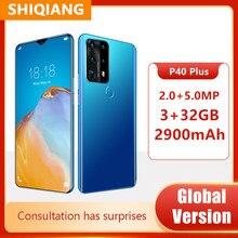 P40 Plus 6.7Inch 4G Lte Smartphone Android Global Versie 3Gb + 32Gb Mobiele Telefoons Gezicht Vingerafdruk ontgrendeld Telefoon