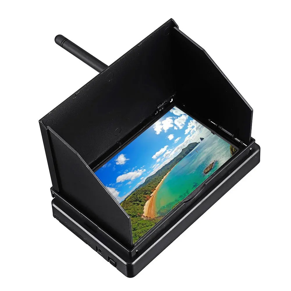 5.8G 48CH 4.3 Inch LCD 480x272 16:9 NTSC/PAL FPV Monitor Auto Search With OSD Build-in Battery image