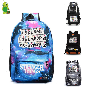 Mochila Stranger Things Backpack Women's Bag Men's Laptop Backpack School Bags for Teenagers Boys Girls's Backpack Travel Bags