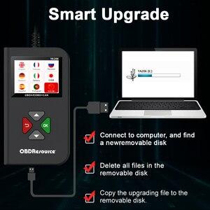 Image 3 - YA206 OBDII קוד Reader מנוע כבוי אור רכב אבחון כלים חיים משלוח החדש 12V OBD2 רכב סורק pk elm327