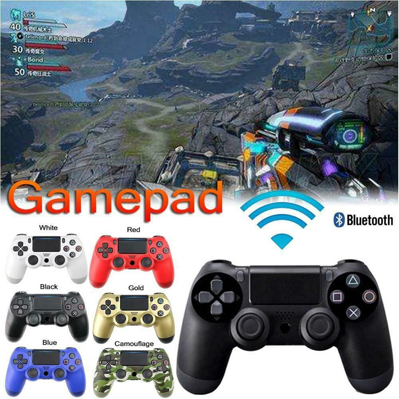 Wireless Gamepad and Bluetooth Gaming Controller for PS4 with Dual Shock Vibrator and Built-In Speaker