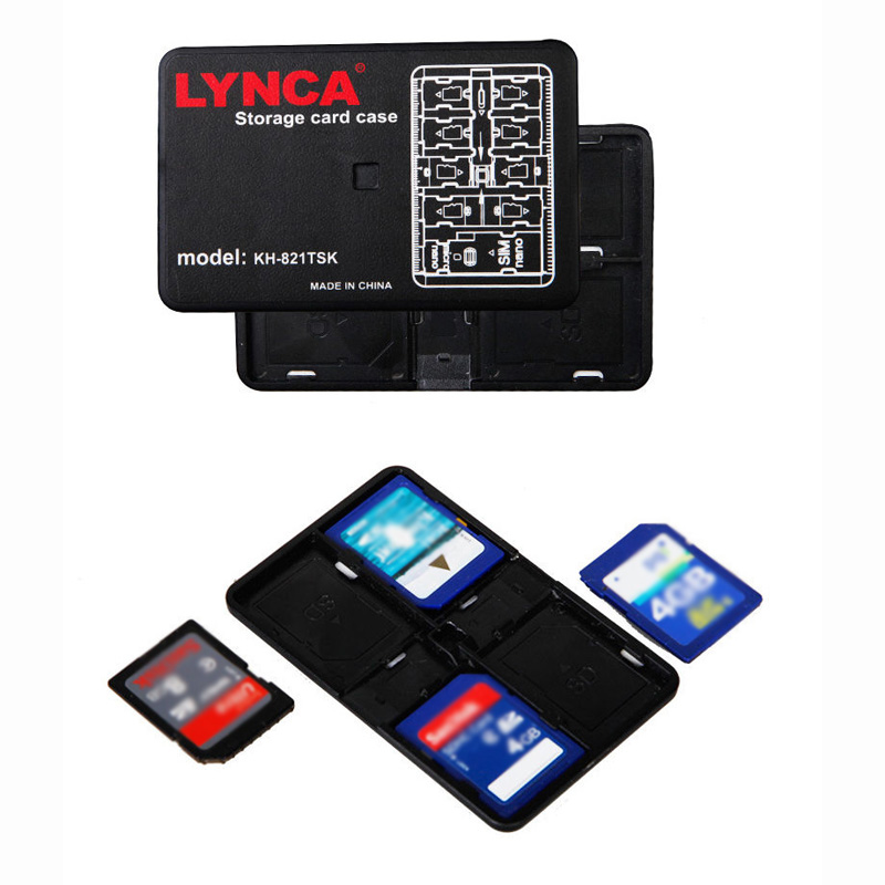 Memory Card Storage Case Holder 16 Slot Micro SD TF SIM Nano Carrying Pouch Box For 4 SD +10 TF+ 1 SIM + 1 Nano