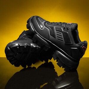 Image 4 - Popularne męskie obuwie trenerzy męskie Sapato Masculino buty do chodzenia Krasovki lekkie męskie buty czarne Tenis Zapatillas Hombre