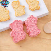 6/8 peças paw patrol conjunto de cortadores de biscoito dos desenhos animados 3d crânio molde plástico pressionando molde de cozimento divertido unicórnio cookie molde