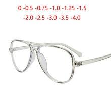 TR90 Oval Rezept Brillen Frauen Neue Designer Transparent Grau Kurzsichtig Spektakel Männer 0-0,5-0,75 Zu-4,0